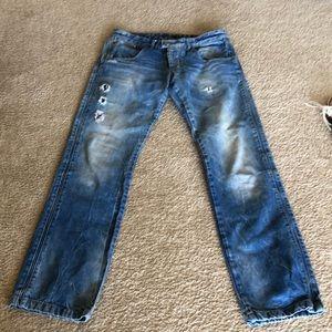 RNT23 London boot cut men jeans.